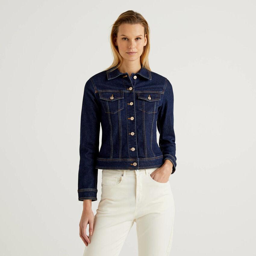 Blouson cintré en jeans