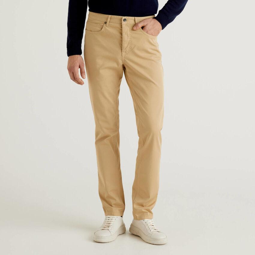 Pantalon coupe slim à cinq poches