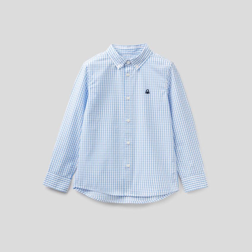 Sportliches Hemd aus reiner Baumwolle mit Karomuster