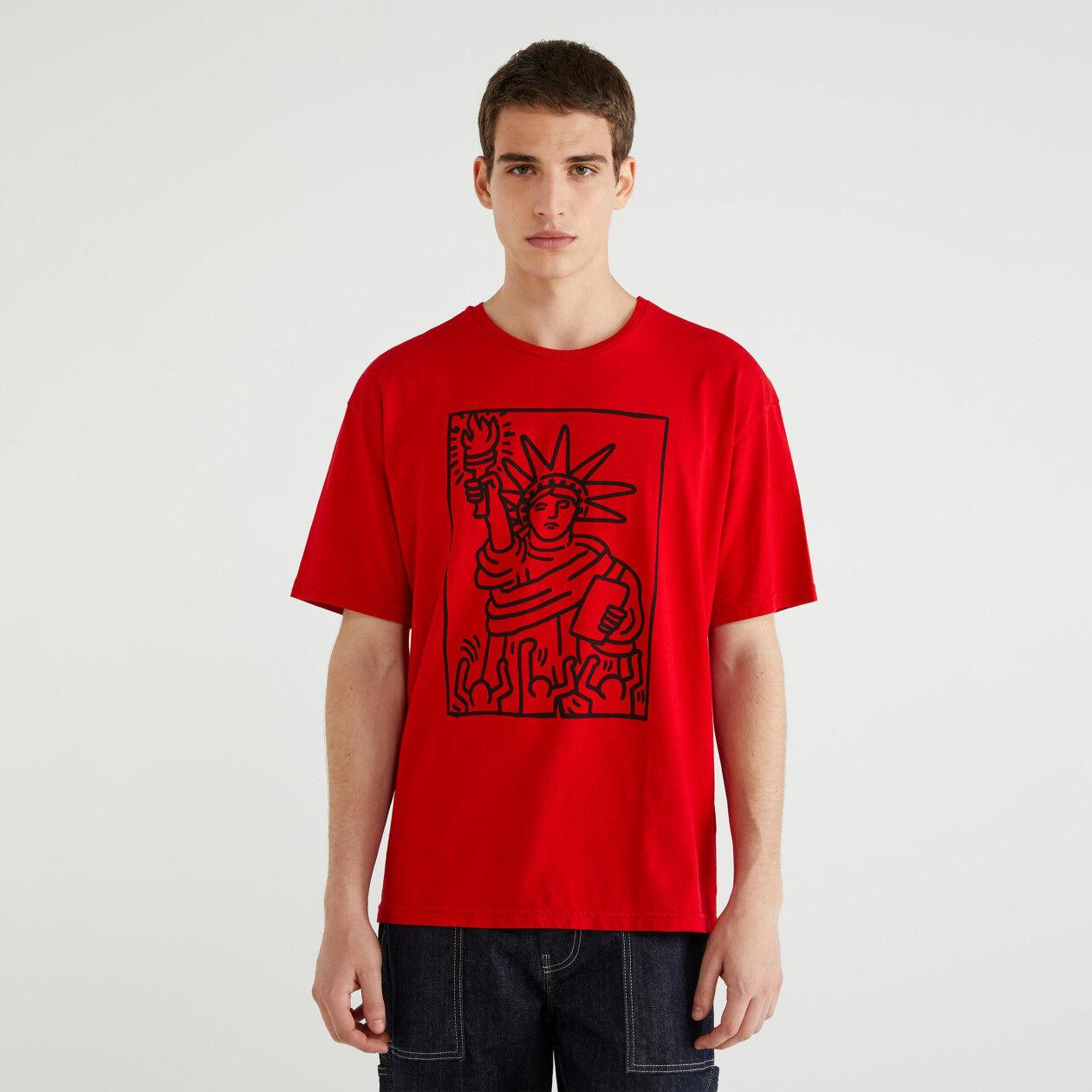 "T-shirt avec imprimé ""Keith Haring"""