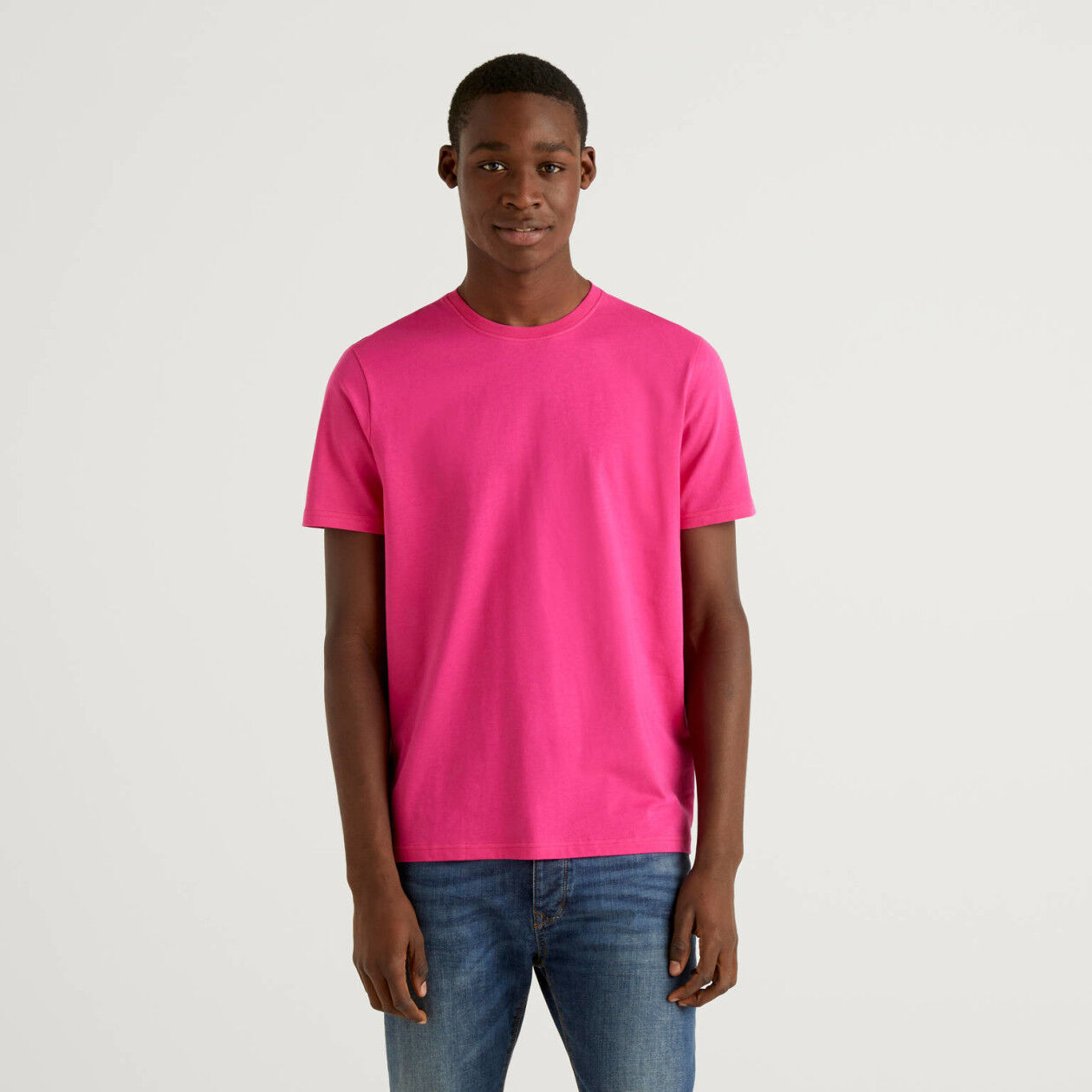Fuchsia t-shirt in pure cotton