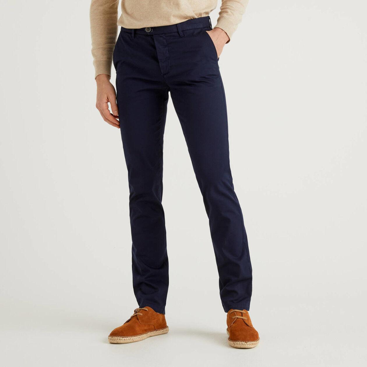 Chino stretch slim fit blu scuro