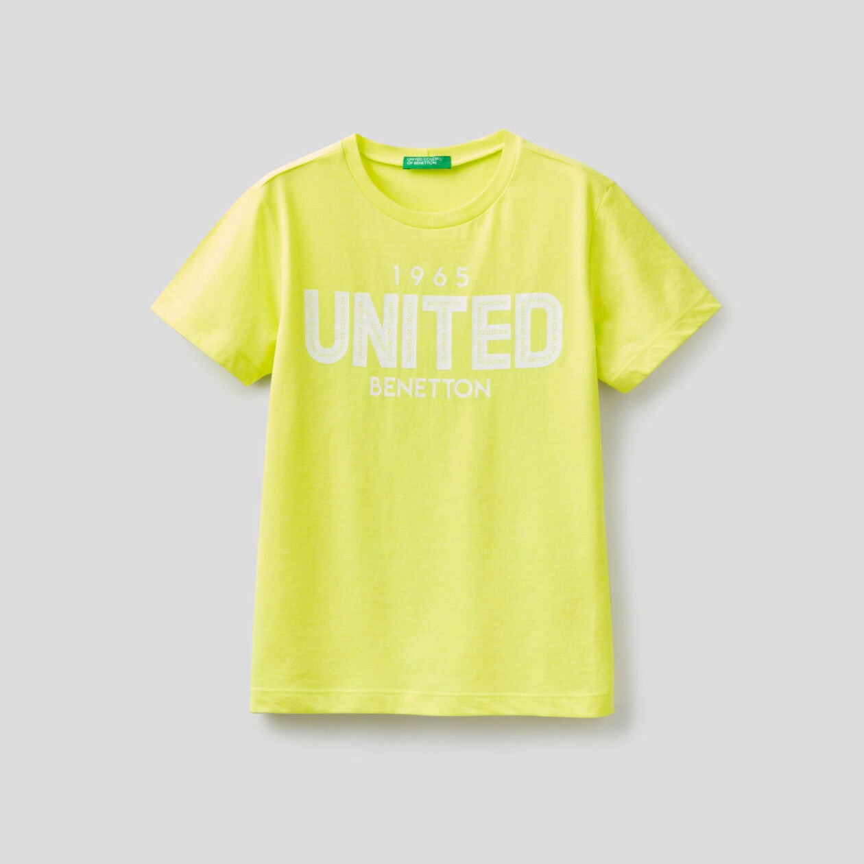 T-shirt fluo con stampa logo