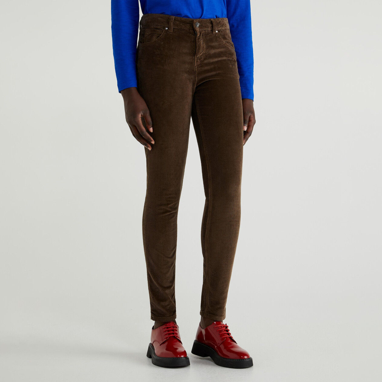 Pantalon skinny en velours