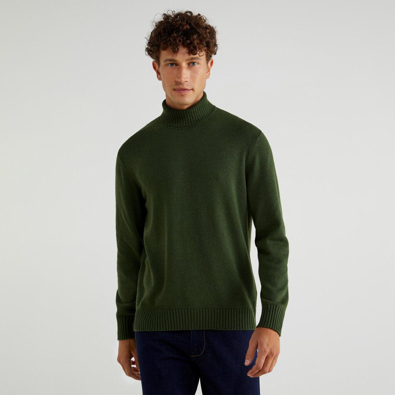 Turtleneck in cashmere blend