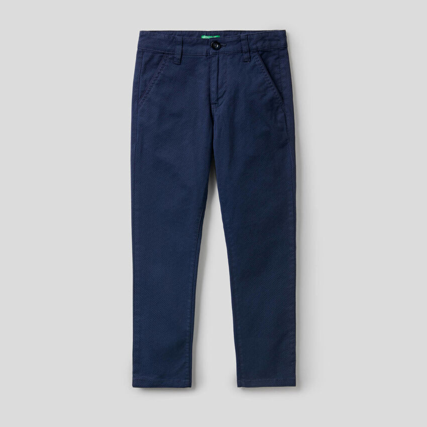 Pantalon en coton stretch imprimé