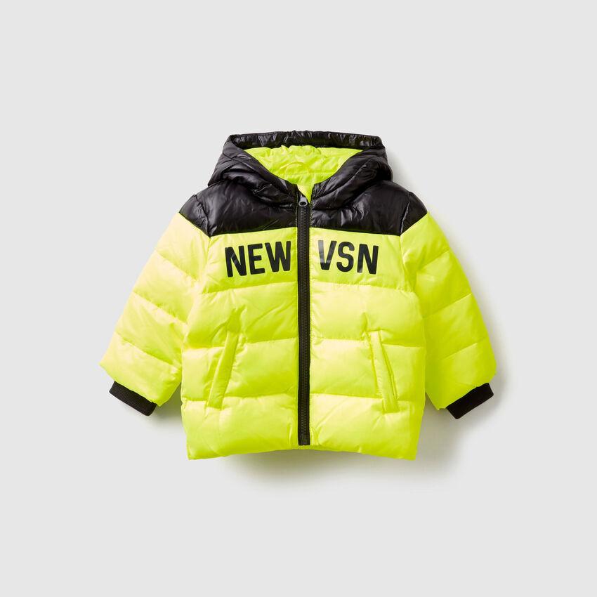 Wattierte zweifarbige Jacke