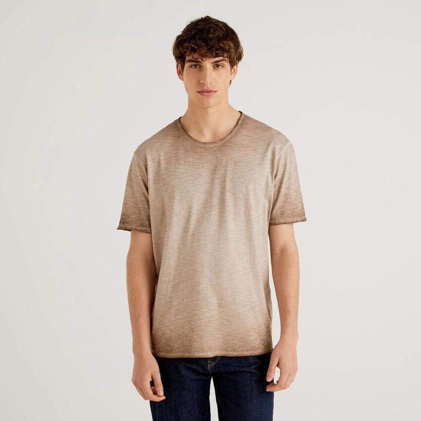 T-shirt en coton avec effet dégradé