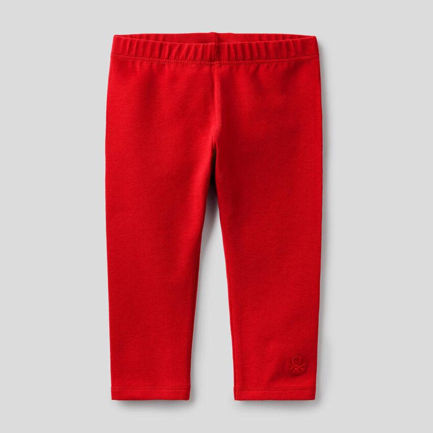 Leggings rossi in cotone stretch