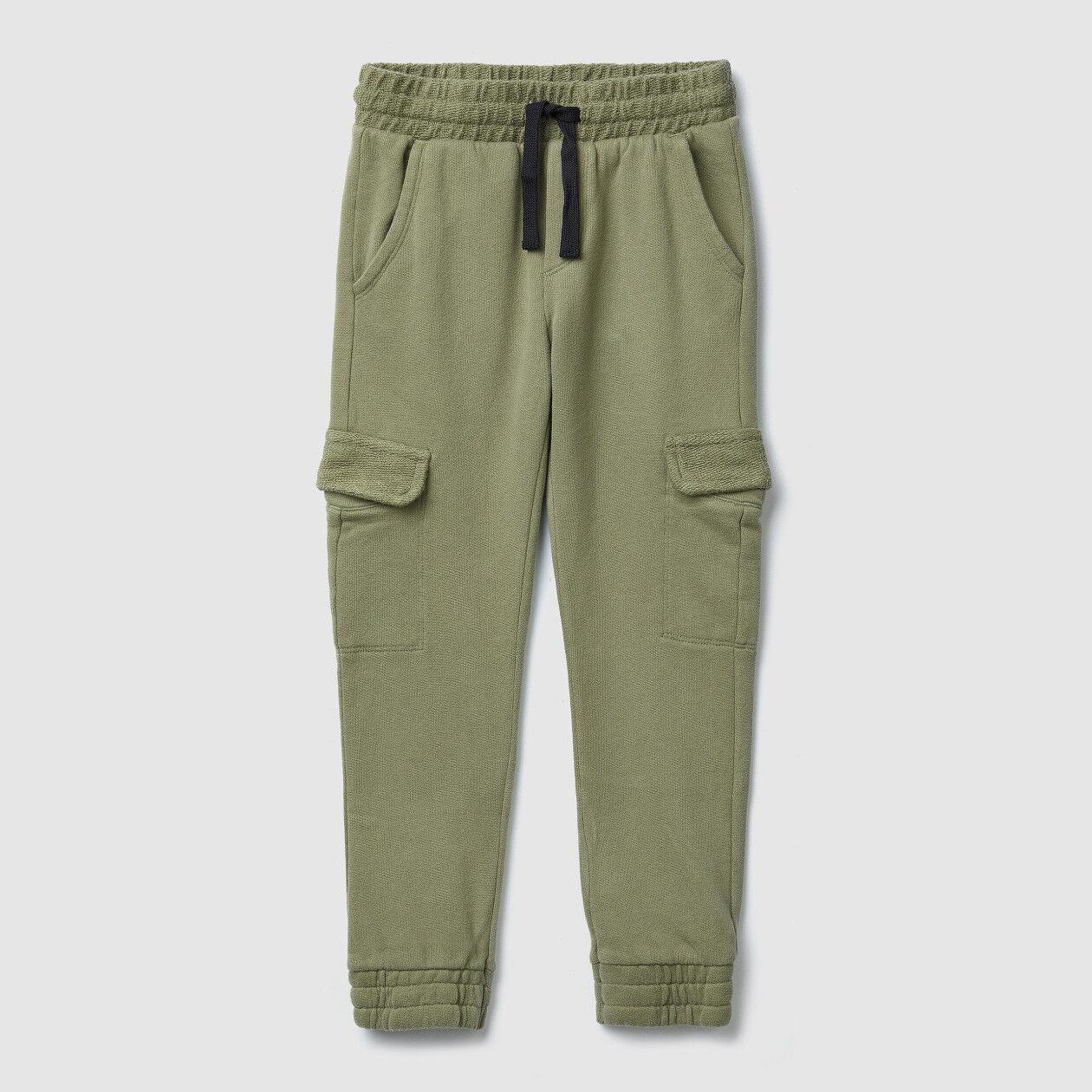Pantaloni cargo in felpa