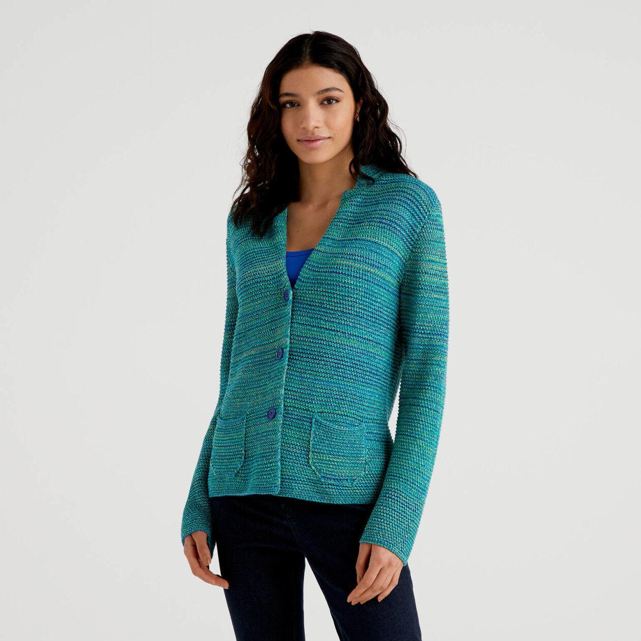 Giacca in maglia 100% cotone