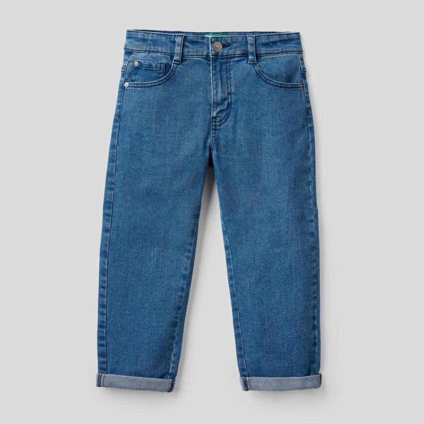 Jeans carrot in denim stretch