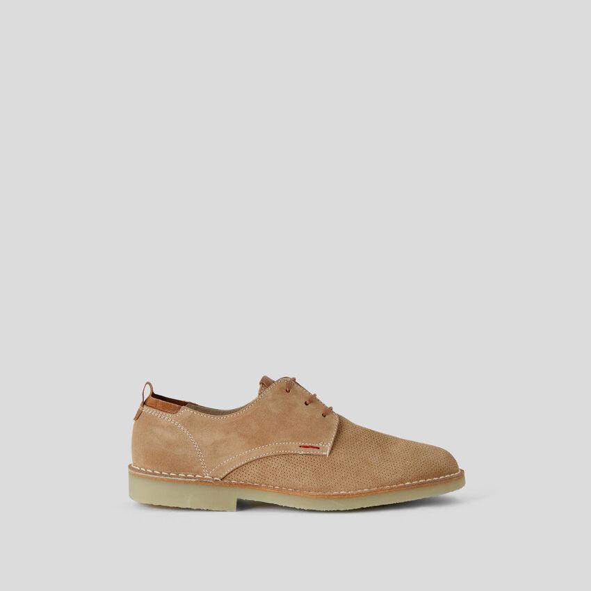 Chaussures à lacets en cuir véritable