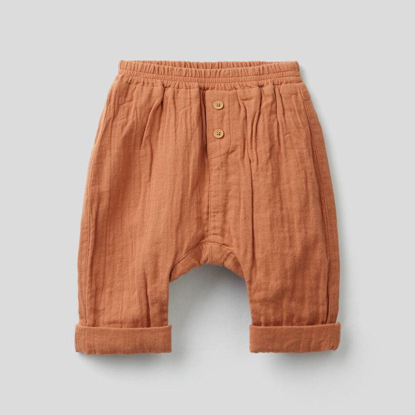 Pantalon en pur coton
