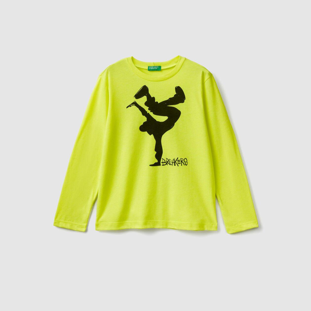 T-shirt con dettagli fluo