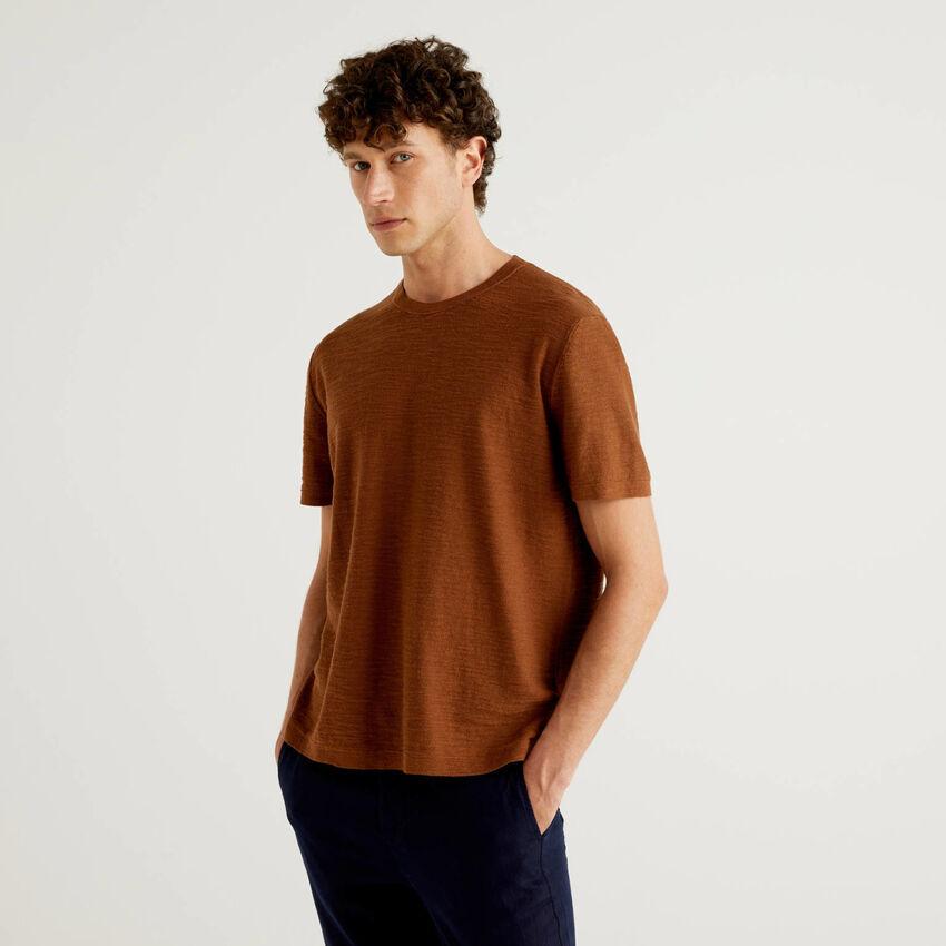 Trikotshirt aus gemischtem Leinen