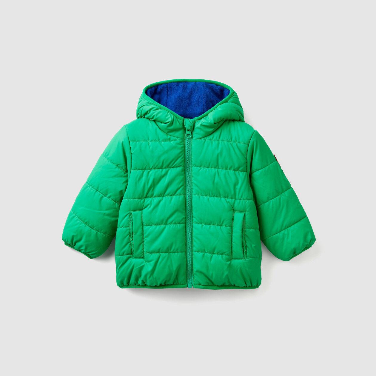 Wattierte Jacke mit Innenfutter aus Fleece