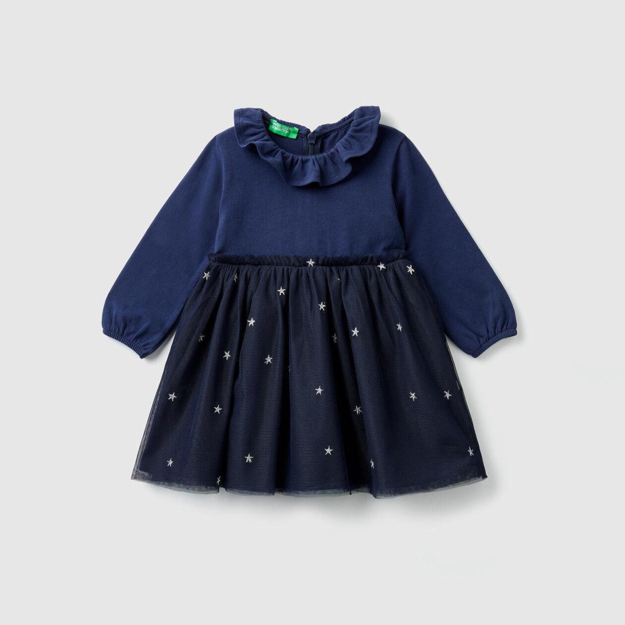 Kleid mit Rüsche aus Tüll