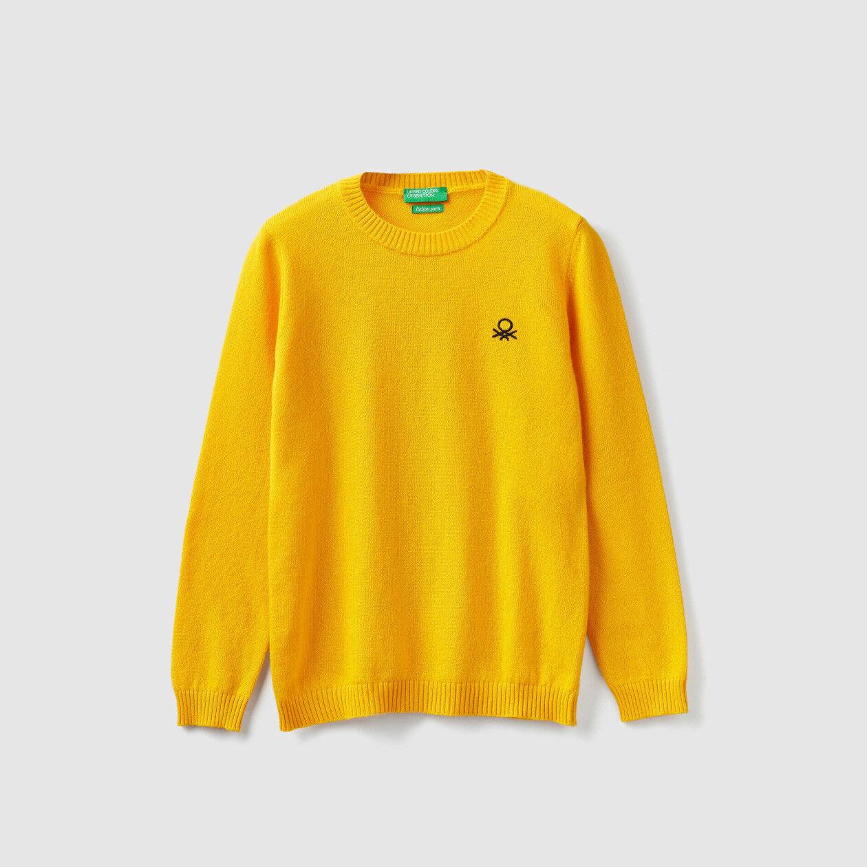 Pullover aus Wolle und Cashmere mit Rundausschnitt