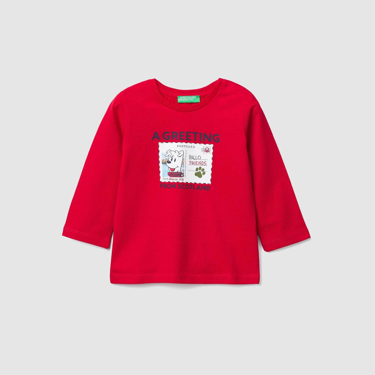 T-shirt avec impression carte postale