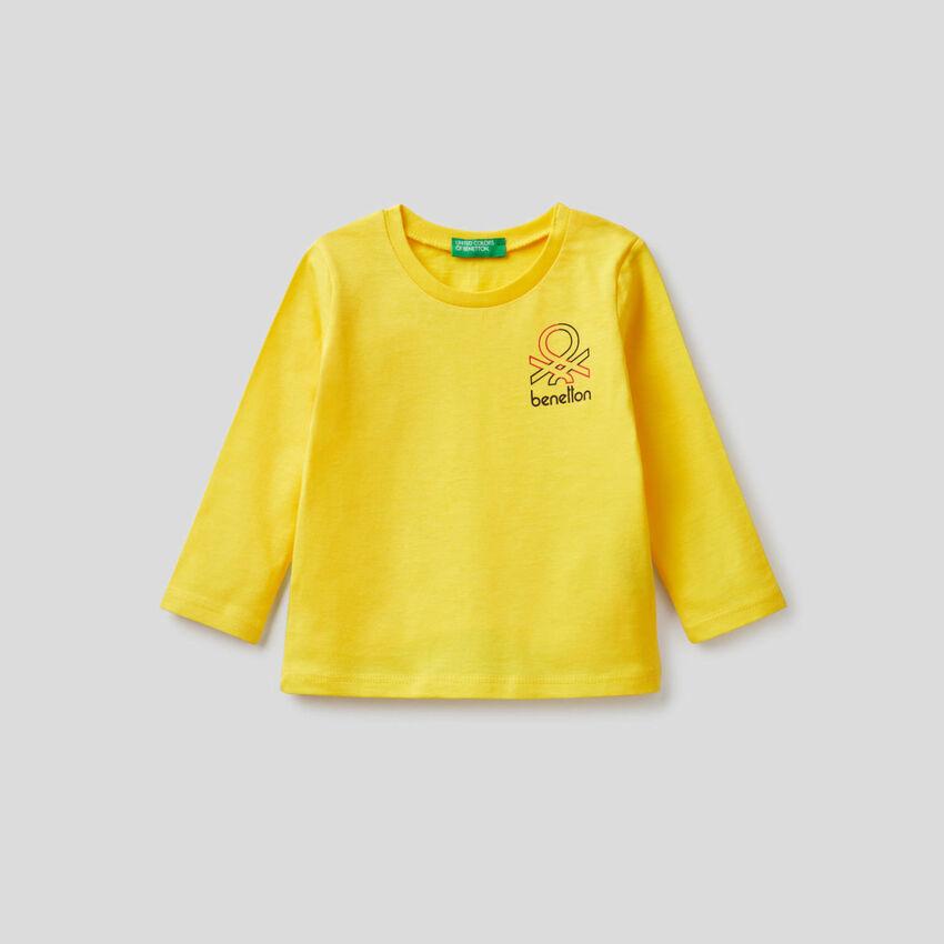 T-shirt manches longues en coton bio
