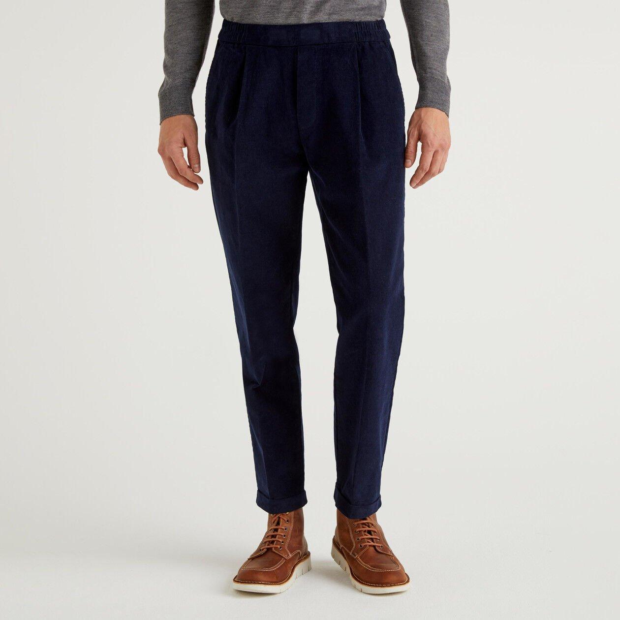 Pantalon en velours avec revers