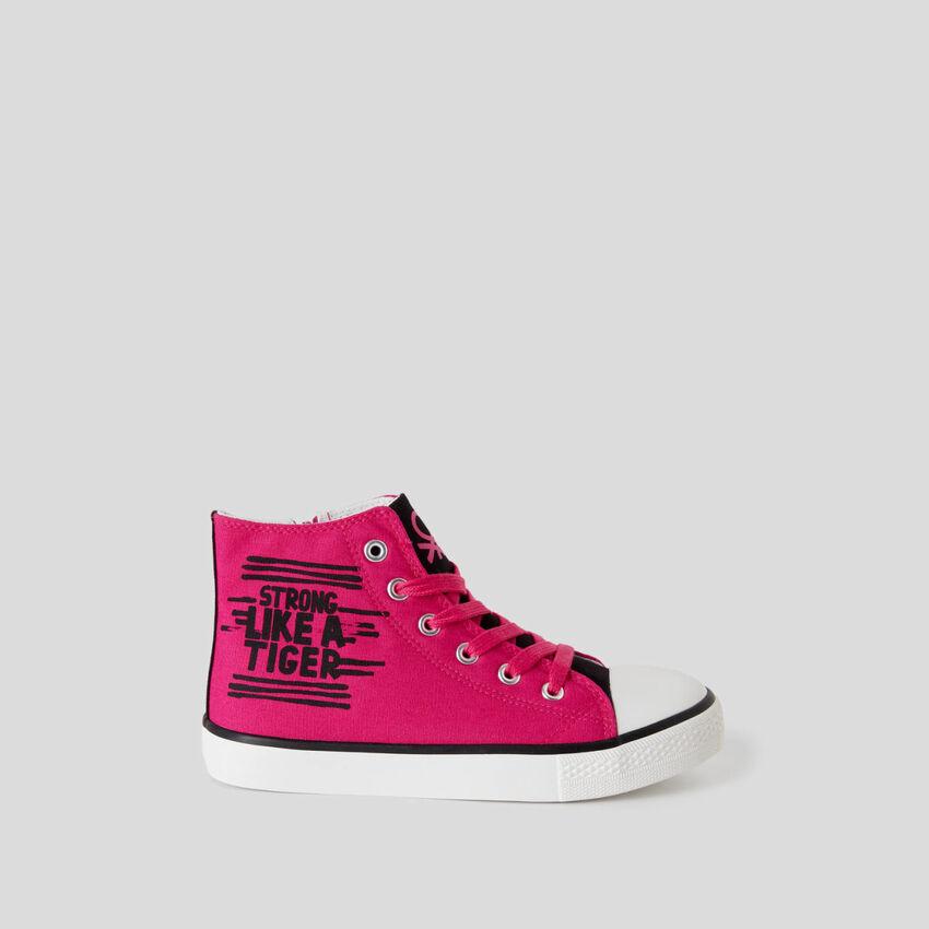 Sneakers alte con stampa