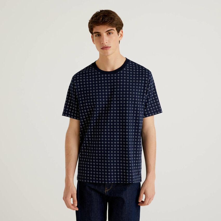 Gemustertes T-Shirt 100% Baumwolle