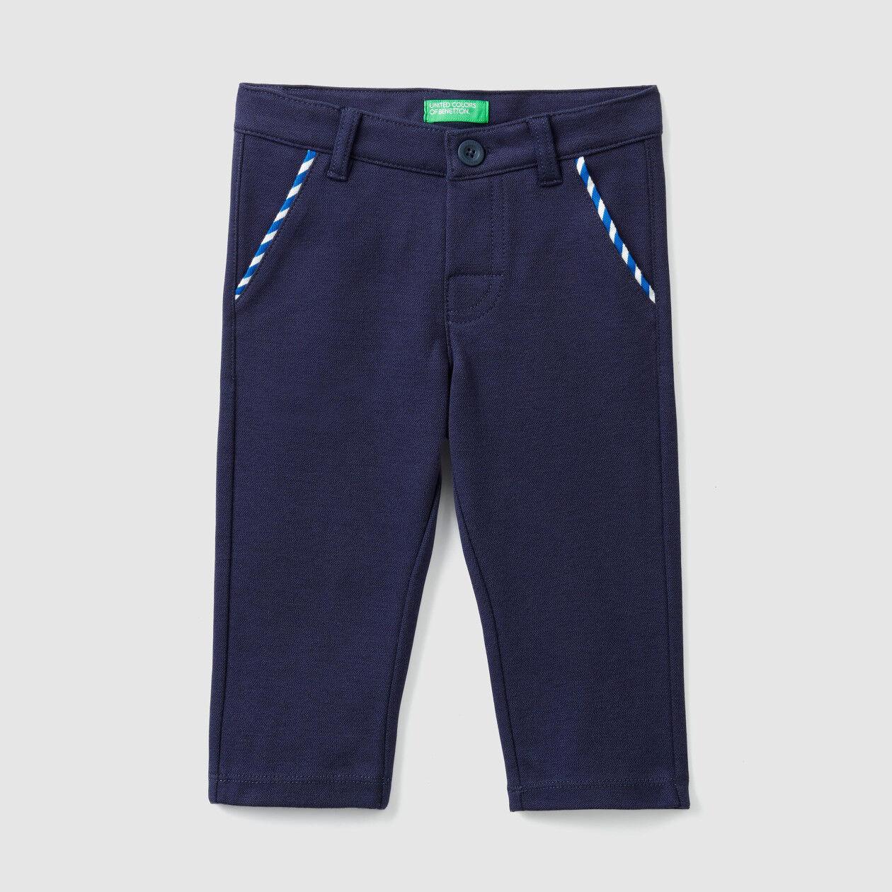 Pantalon en piqué stretch