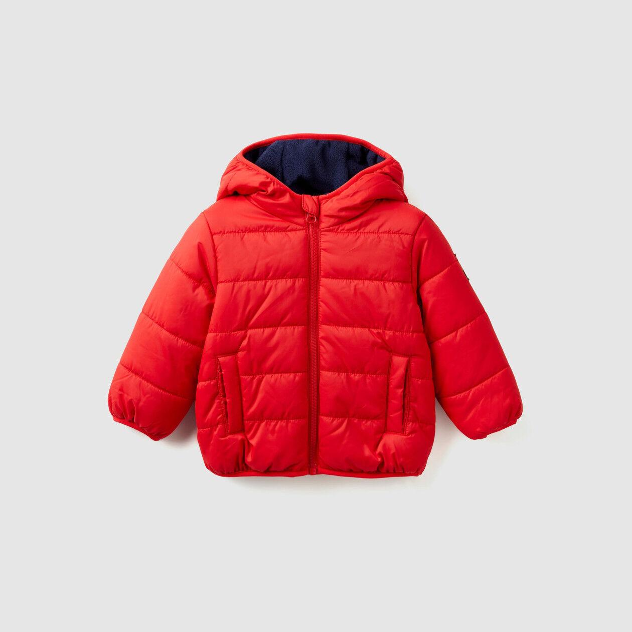 Puffer jacket lined in fleece