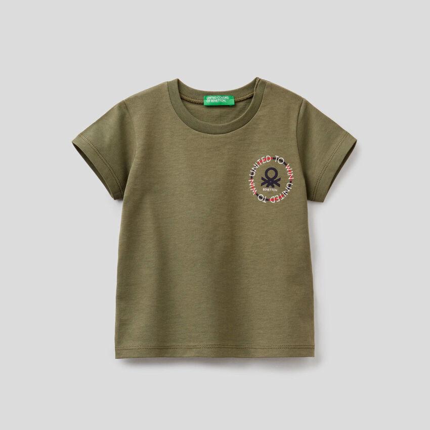 T-shirt à imprimé logo en coton bio