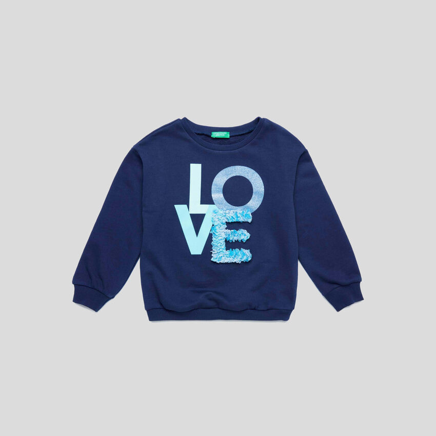Rundhals-Sweater mit Applikationen