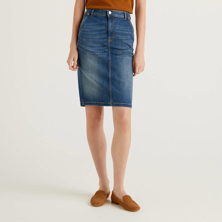 Tubino in jeans elasticizzato