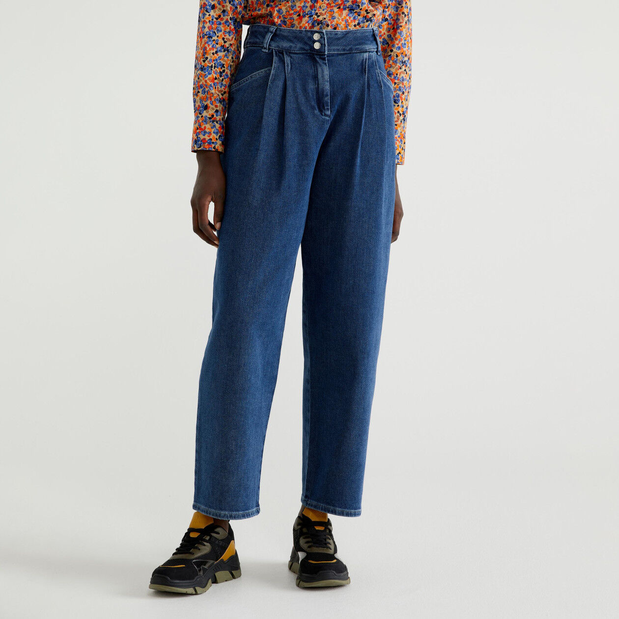 Pantalon ample en denim