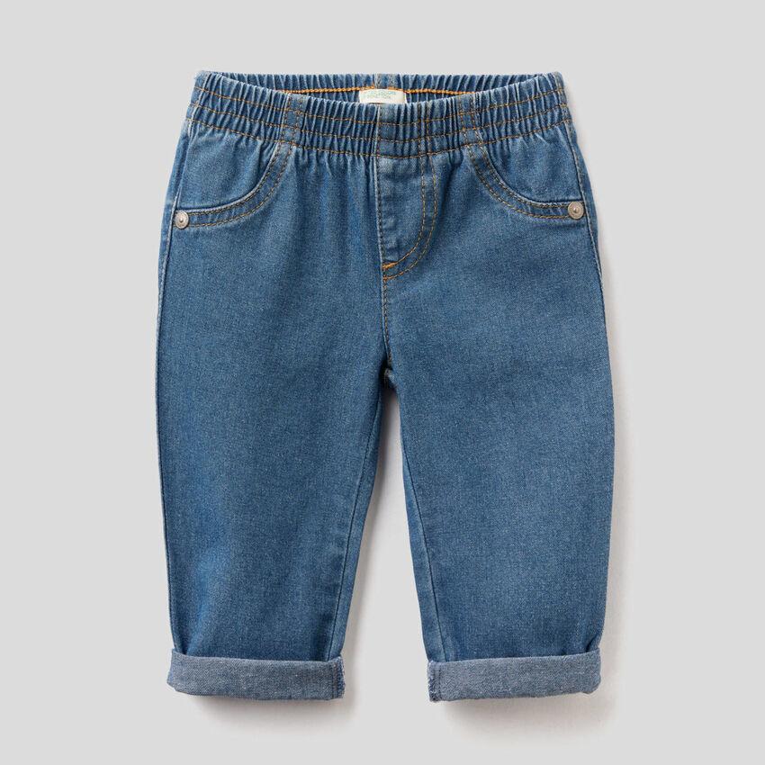 Jeans en denim de 100 % coton