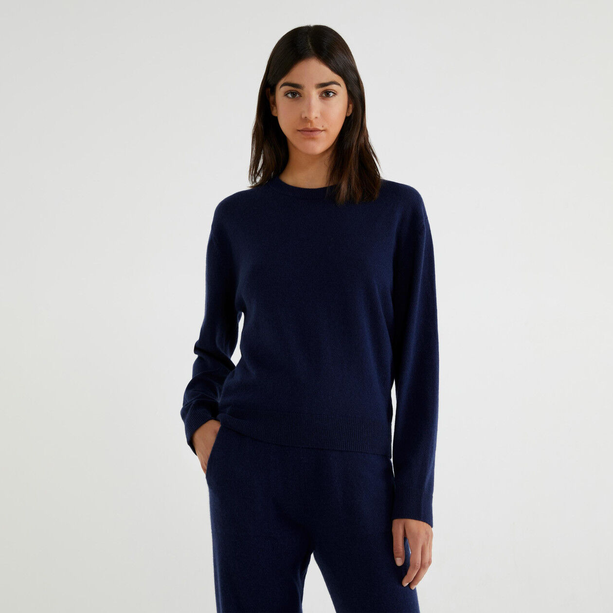 Sweater in virgin wool and cashmere