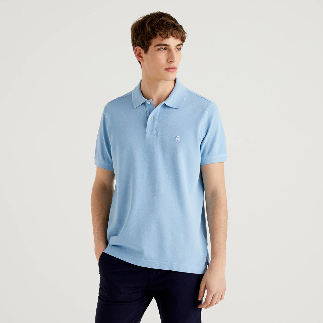 Polo regular fit celeste