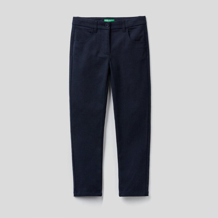 Skinny-Fit-Hose aus stretchigem Flanell