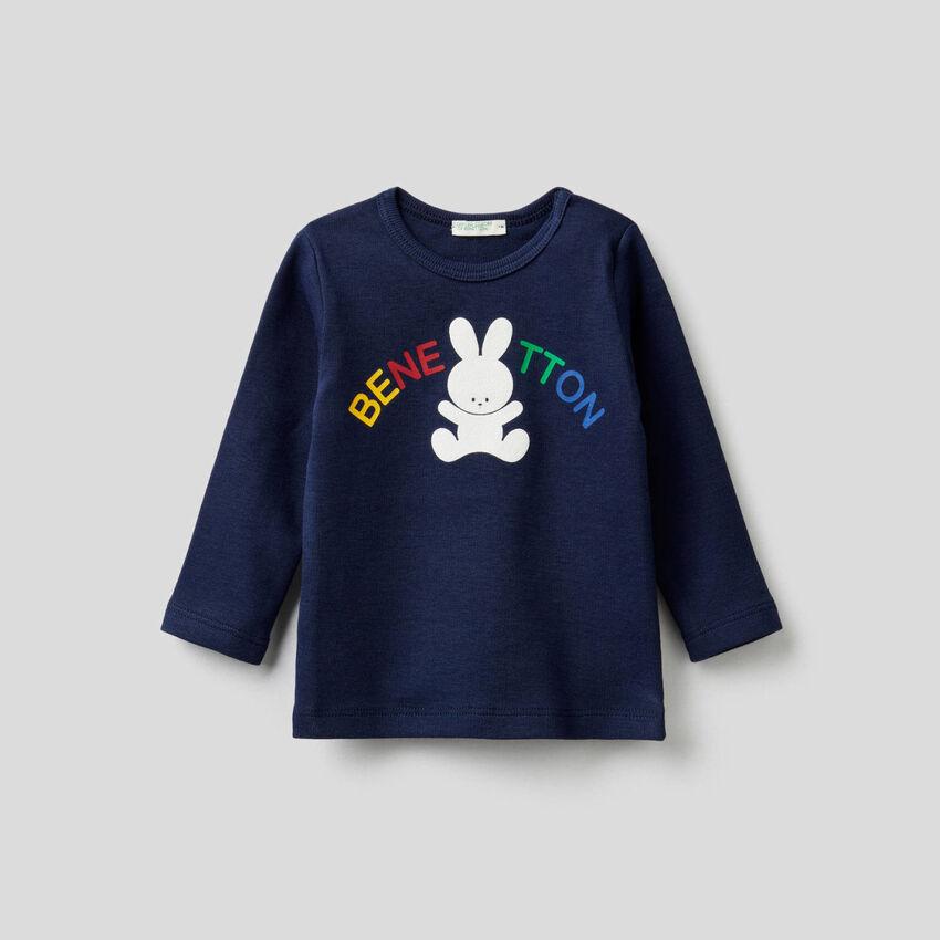 T-shirt à manches longues et imprimé