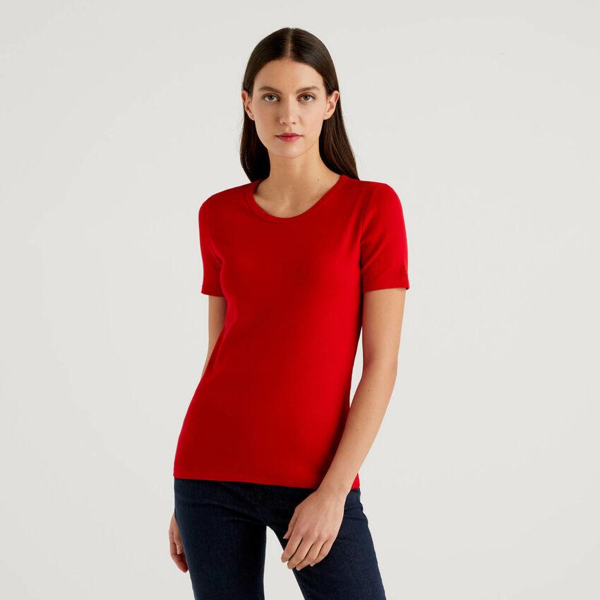T-shirt personalizzabile in cotone a fibra lunga