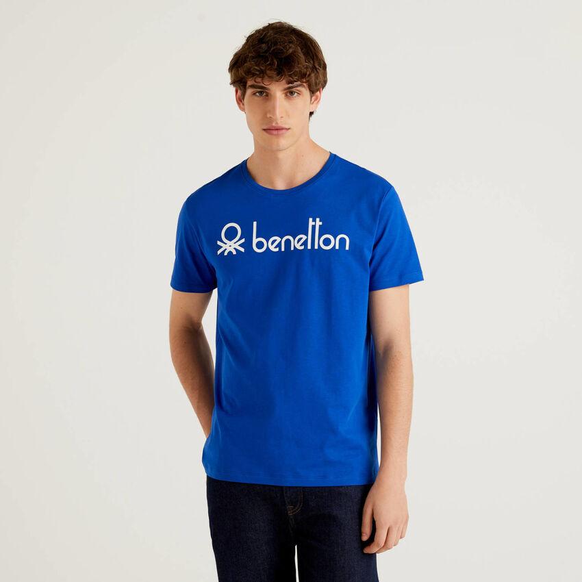 T-shirt manica corta con stampa logo
