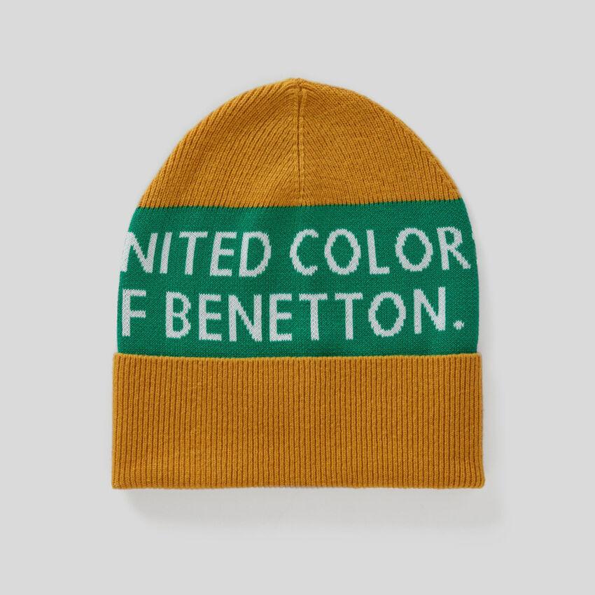 Bonnet en coton et laine