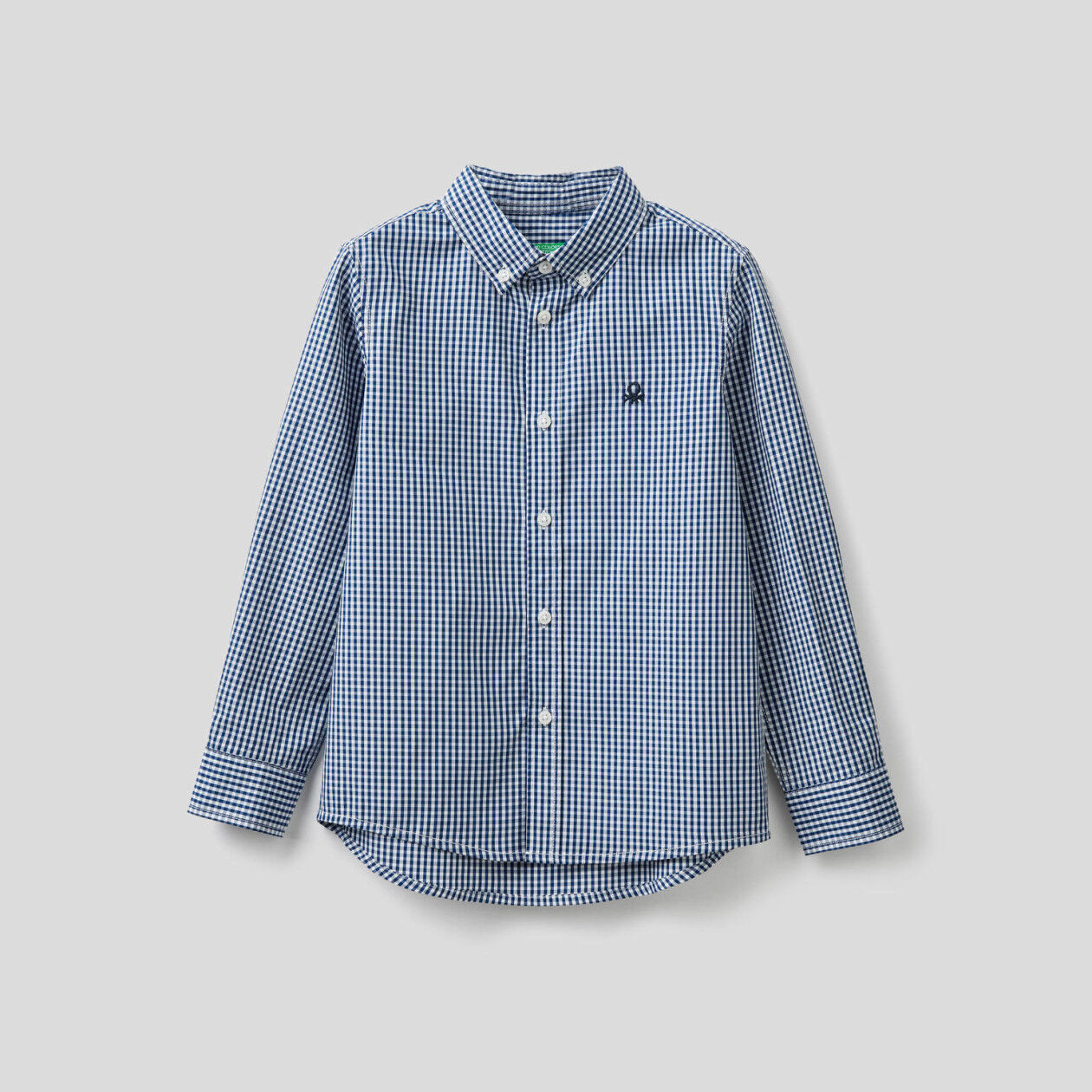 Sporty Vichy shirt in pure cotton