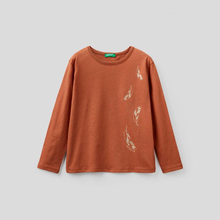 T-shirt manches longues avec glitters