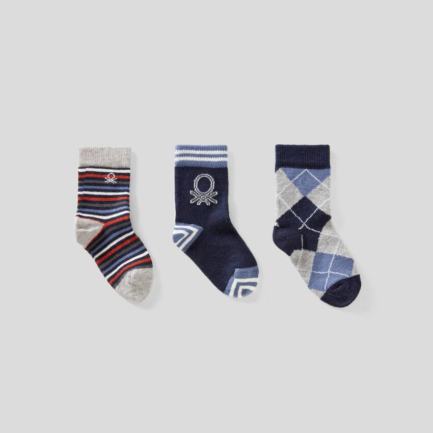 Lot de chaussettes dans les tons de bleu