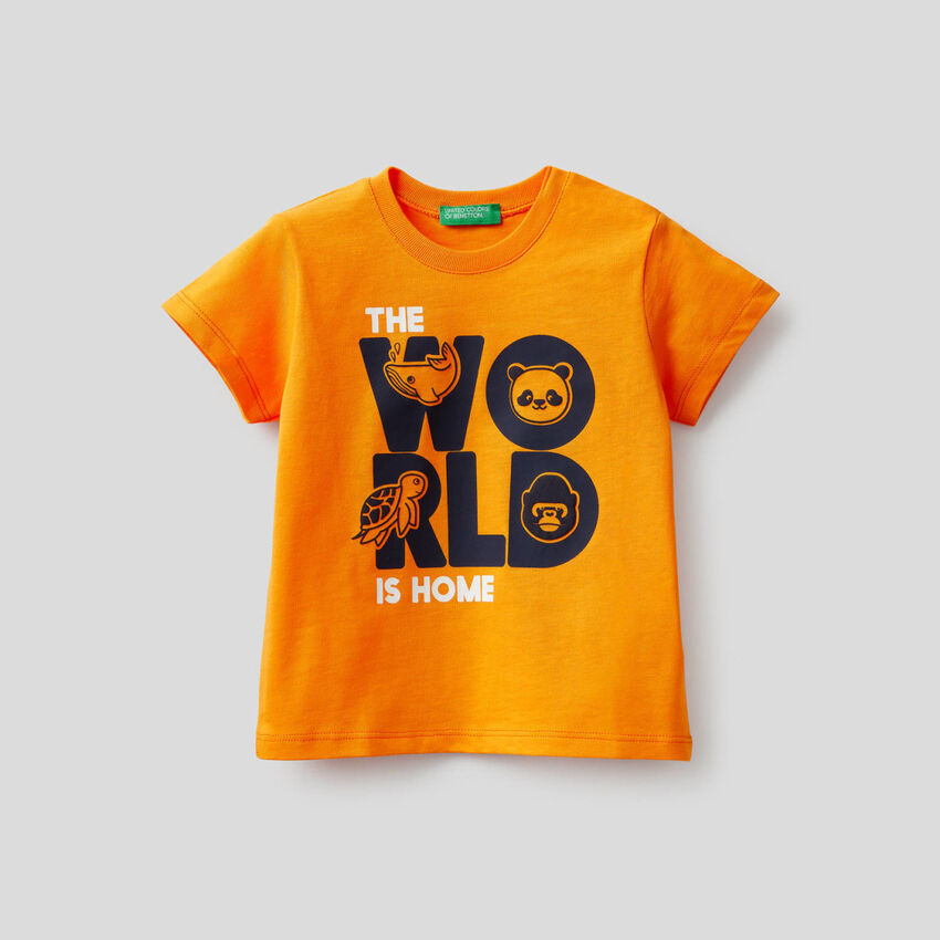 100% cotton t-shirt with print