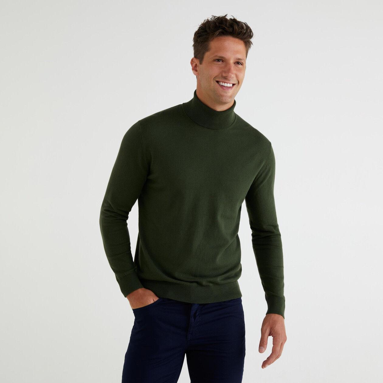 Dolcevita in cotone tricot