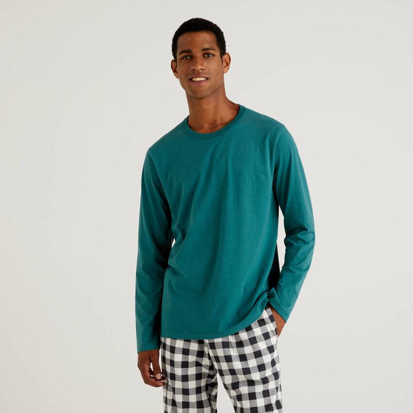 T-shirt in caldo cotone a fibra lunga