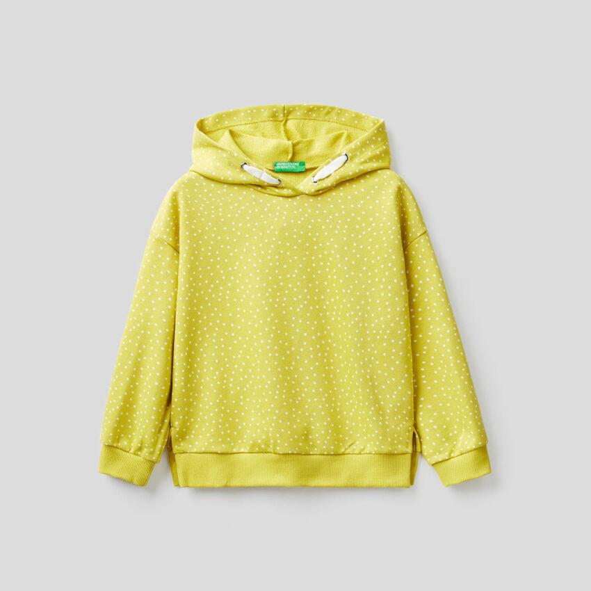 Gemustertes Sweatshirt mit Kapuze