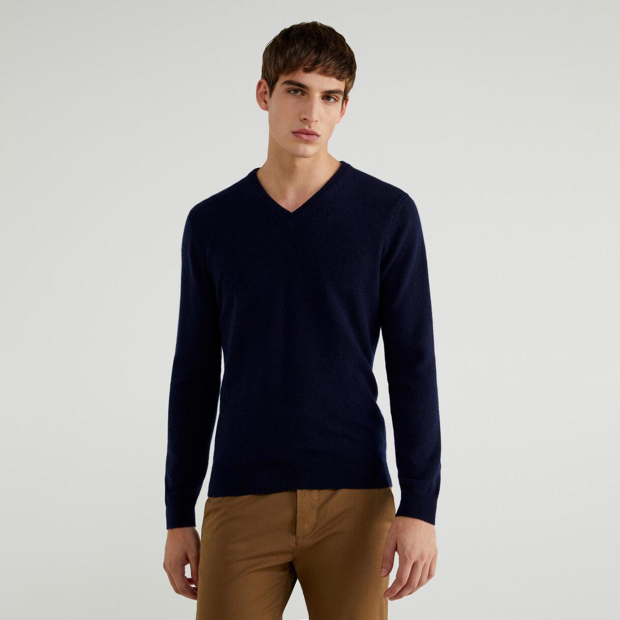 Pullover aus reinem Cashmere mit V-Ausschnitt